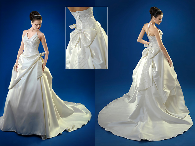 Bridal train gowns